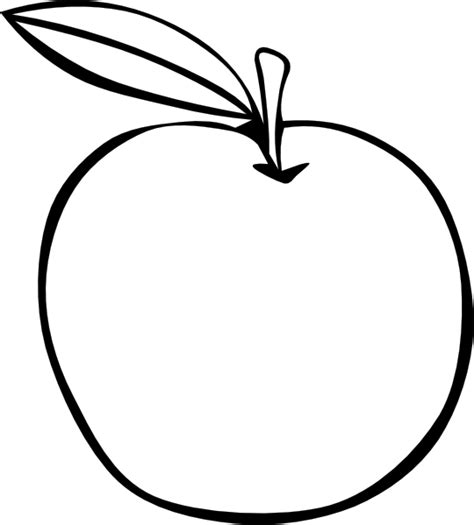 Apple Outline Png by Apple Coloring Fruit Clip At Clker Vector Clip Royalty Free Domain