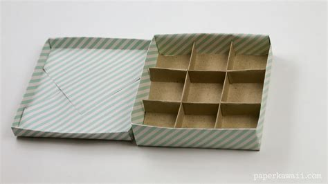 Origami Box With Divider - 9 section origami box divider paper kawaii