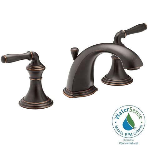 shop kohler parq oil rubbed bronze 2 handle high arc kohler devonshire 8 in widespread 2 handle bathroom