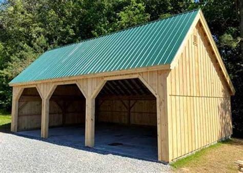 pole barn farm equipment storage shed