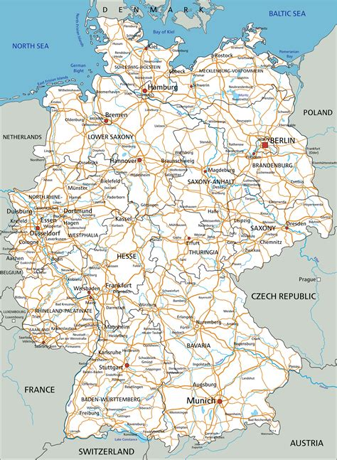 road map of germany germany map guide of the world