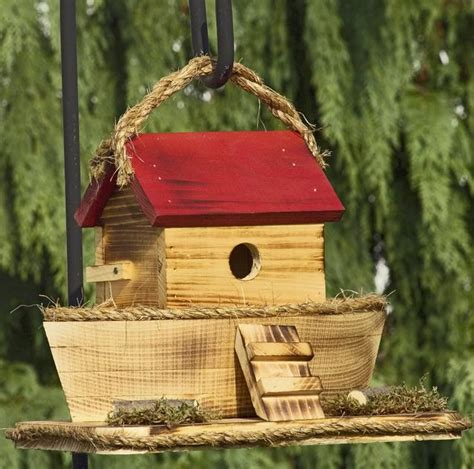 Handmade Birdhouses - unique wooden handmade noah s ark birdhouse is a one of a