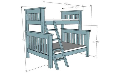 Wood Bunk Bed Plans Wood Bunk Bed Plans Woodworking Projects