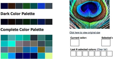 house color palette generator peacock feather with css color palette generator for