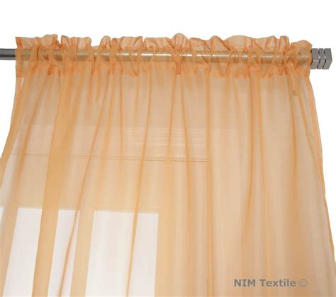 Sheer Curtains Orange Orange Sheer Voile Curtains