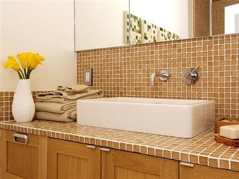 Bathroom Tile Countertop Ideas Tile Bathroom Countertops Bathroom Design Choose Floor Plan Bath Remodeling Materials Hgtv