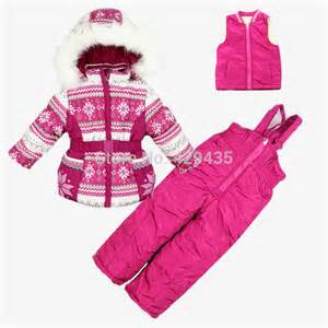 Free shipping retail children winter parka cheap snow suit baby girl