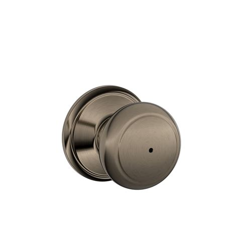 Push Lock Door Knobs by Shop Schlage F Andover Antique Pewter Push Button