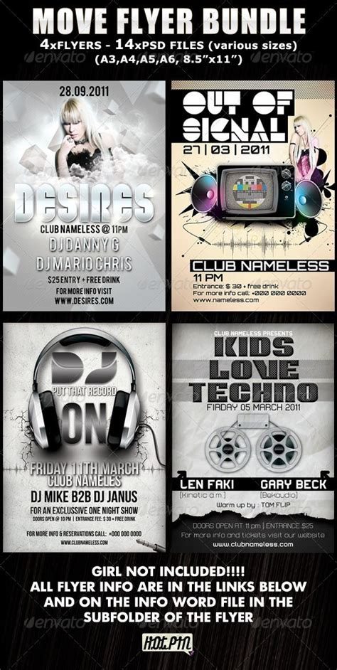 Best Club Flyer Fonts 106 best print templates images on print