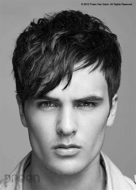 side swept boys hairstyles side swept bangs kapsels voor mannen pinterest