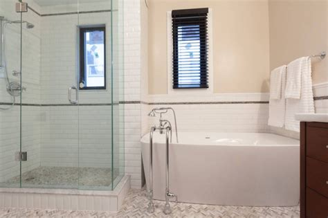 bathroom with bathtub and shower the pros and cons of showers vs tubs