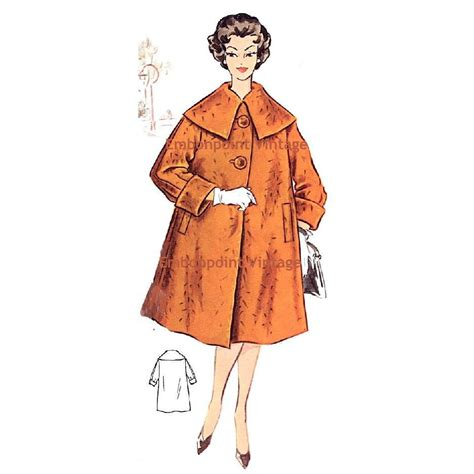 plus swing coat plus size or any size vintage 1950s swing coat pattern pdf