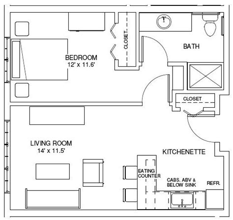One Bedroom Floor Plans 25 Best Ideas About Apartment Floor Plans On