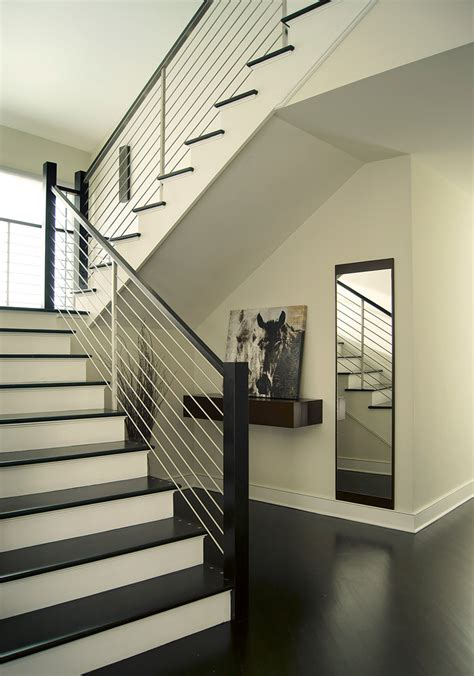 contemporary stair railing Staircase Contemporary with