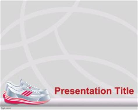powerpoint templates sports free powerpoint template for running presentations