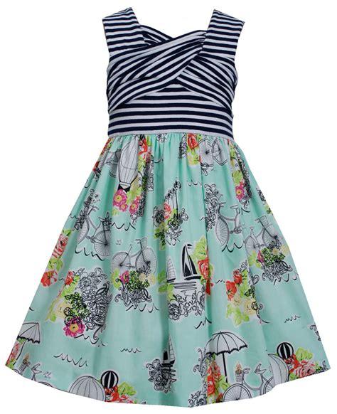 bonnie jean bonnie jean big mint stripe conversational dress