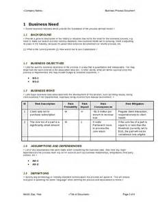 Business Process Document Template Business Process Template Hashdoc
