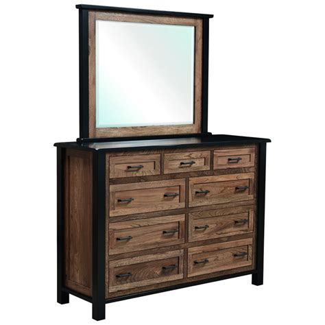 High Dresser Furniture Empire Collection High Dresser With Mirror Amish Crafted