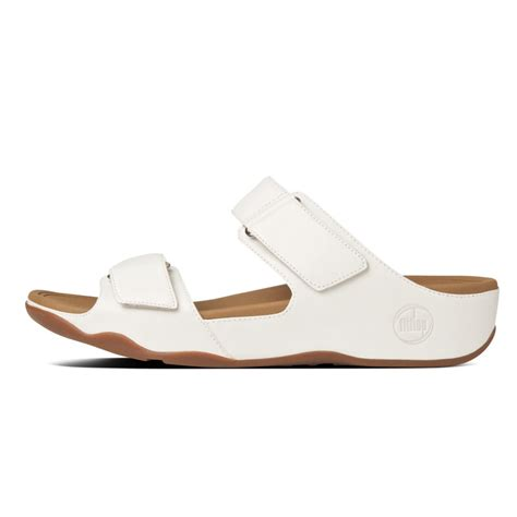 white slip on sandals fitflop fitflop design goodstock white leather