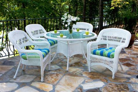 wicker patio furniture resin rattan white grey cushions