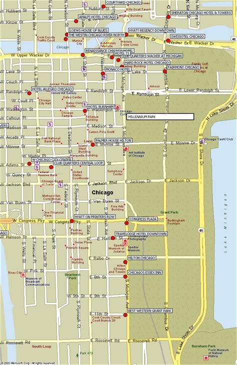 chicago hotel map supreme 2008 maps