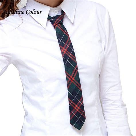 11411 Plaid Shirt With Neck Tie neck tie school colorful stripe scottish plaid cravat for boy collar shirt