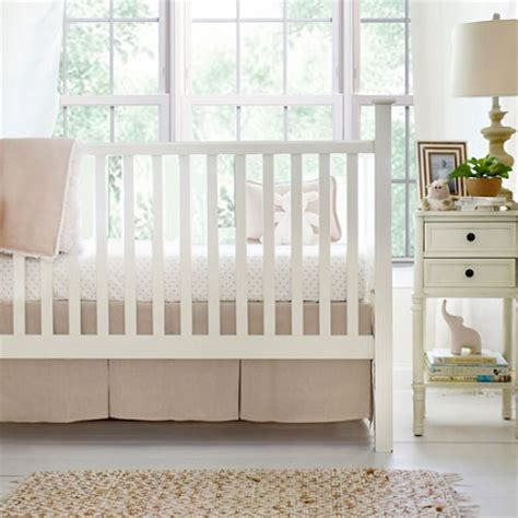Neutral Crib Bedding Nursery Linen Crib Bedding Linen Baby Bedding Neutral Nursery