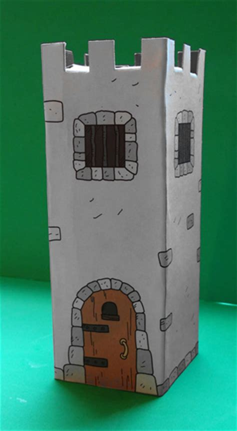 How To Make A Paper Castle - free diy cardboard castle for build your own