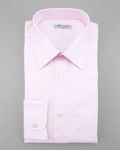 light pink mens dress shirt charvet textured dress shirt light pink in pink for