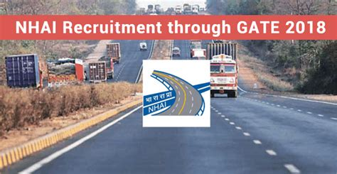 Mba Through Gate 2017 by Nhai Recruitment Through Gate 2018 Apply Fordeputy Manager
