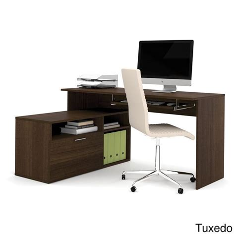 Maple Wood Finish Adjustable Bestar Modula Compact L Compact L Shaped Desk
