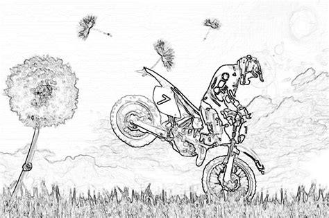 Coloriage Motocyclette Les Beaux Dessins De Transport 224