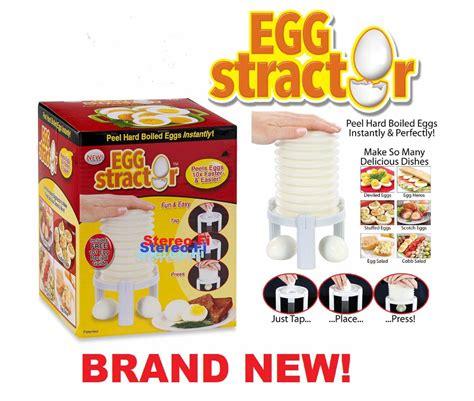 eggstractor boiled egg peeler as seen on tv kitchen