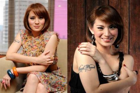 tato dayak kuno 7 seleb cantik ini tak disangka punya tato di tubuhnya