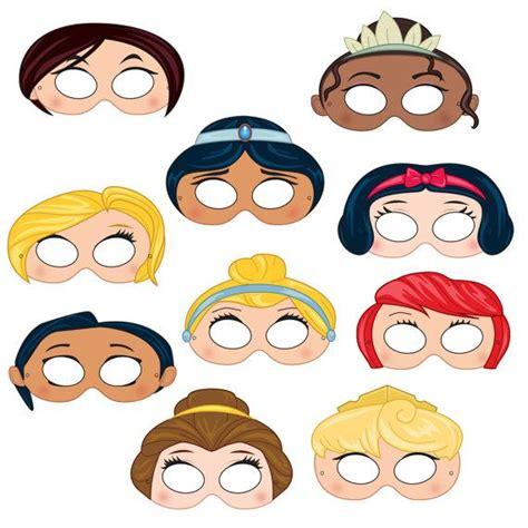 printable mask disney princess masks printable princess character party masks