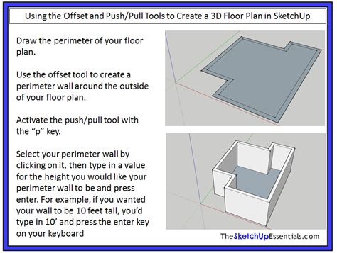 sketchup layout offset can you draw floor plans with sketchup
