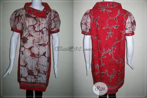 desain baju batik remaja putri dress batik keren dan berkelas busana batik wanita muda