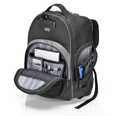 16 compact rolling backpack tbr015us black rollers targus