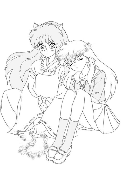 draw and color the baylee jae way characters clothing and settings step by step books free printable inuyasha coloring pages for