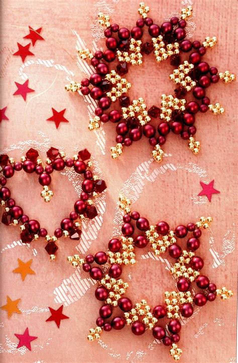 lacy snowflake pattern at bead patterns com beading