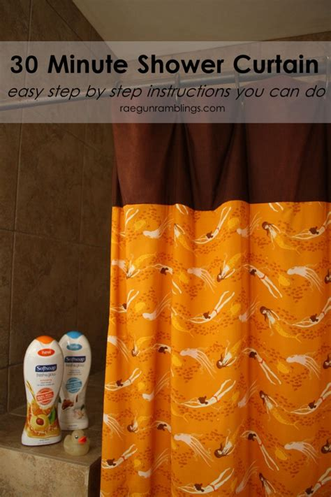 Shower Tutorial by 30 Minute Shower Curtain Tutorial Sewtorial