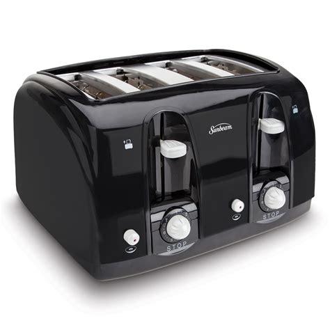 Black 4 Toaster Sunbeam 174 4 Slice Toaster Black 003911 100 000 W