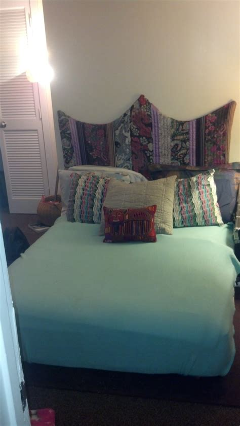 Quilted Bed Backboard by Upcycled Quilt Into Bed Backboard Tutorial The Crafternoon Collection