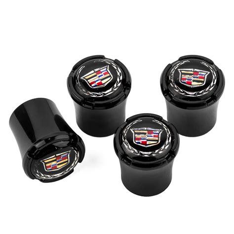 caps cadillac cadillac black logo valve stem caps