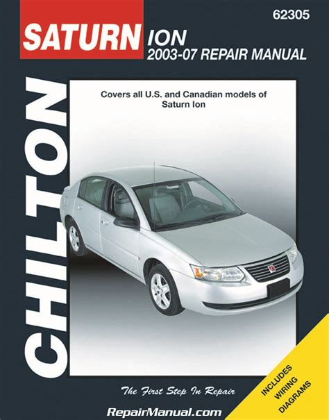 2003 2007 chilton saturn ion automotive repair manual
