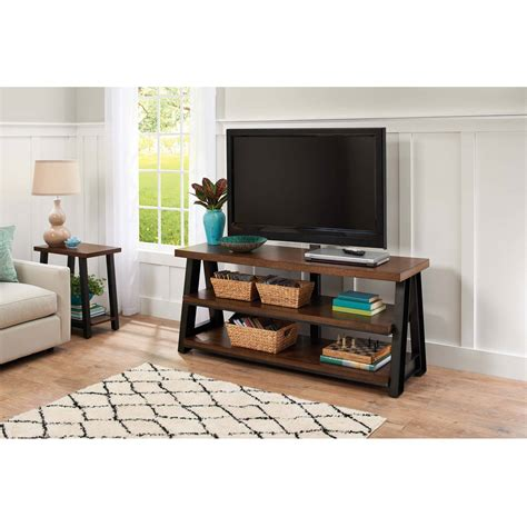 L Stand Walmart by Mainstays Metro Tv Stand For Tvs Up To 50 Quot Warm Ash