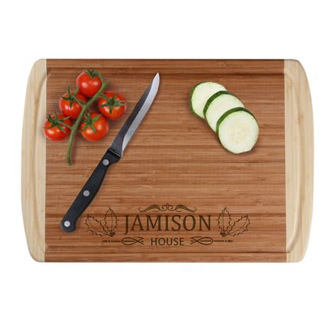 personalized gifts family name personalized bamboo cutting board