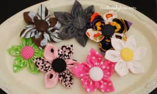 Flowers Tutorials - fabric flower hair clip