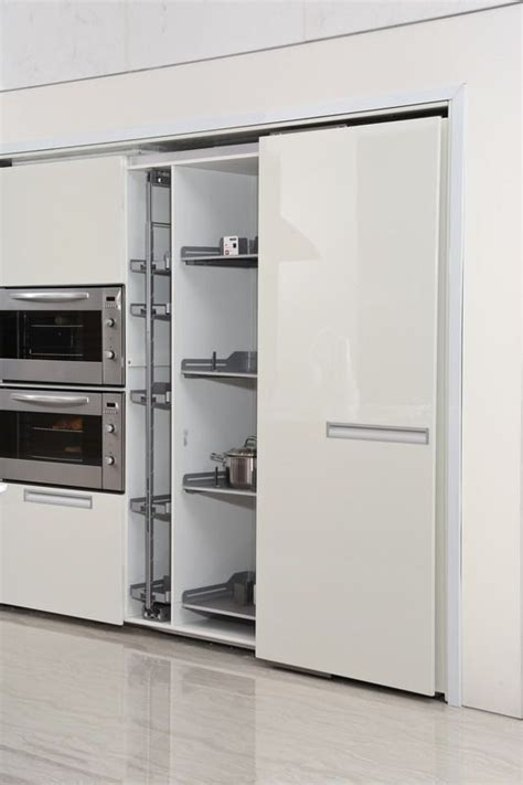 Kitchen Cabinet Sliding Door Sliding Door Of Pantry Cabinet Oppein White Kitchens Taking