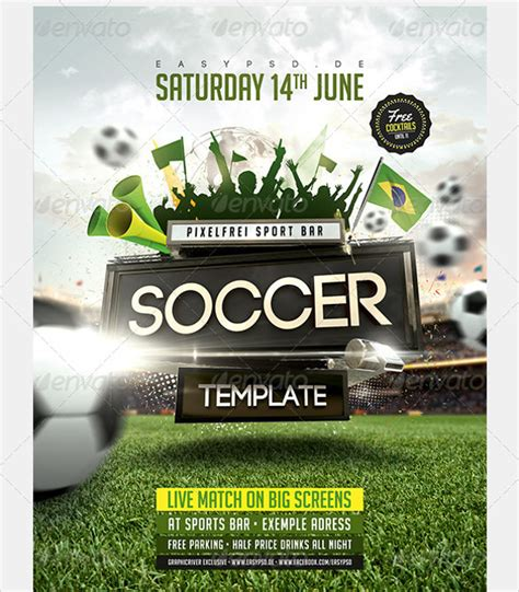 20 Soccer Flyer Templates Sle Templates Attractive Flyer Templates